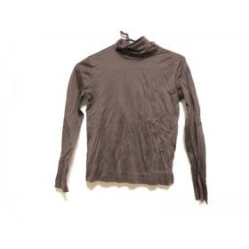 【中古】 レオナール LEONARD 長袖Tシャツ サイズ38 M レディース 美品 ダークブラウン SPORT/ハイネック