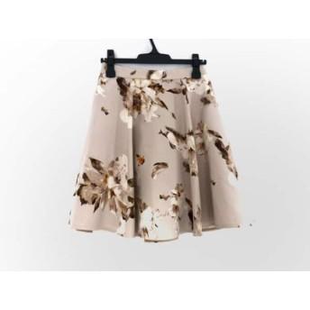 【中古】 フレイアイディー FRAY I.D スカート サイズ1 S レディース ベージュ ブラウン オレンジ 花柄