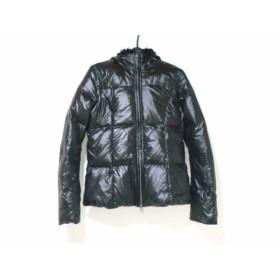 【中古】 ミスシックスティ ダウンジャケット サイズXS レディース 黒 フェイクファー/冬物/ジップアップ