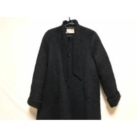 【中古】 アニオナ AGNONA コート サイズ40 M レディース 黒 ALTUNA/冬物