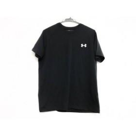 【中古】 アンダーアーマー UNDER ARMOUR 半袖Tシャツ サイズSM メンズ 黒 白