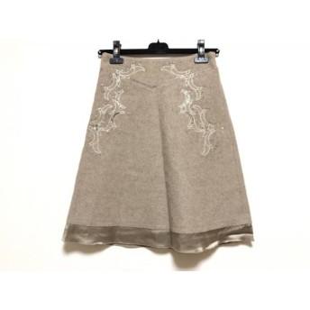 【中古】 アンテプリマ ANTEPRIMA ミニスカート サイズ38 S レディース ライトブラウン スパンコール/刺繍