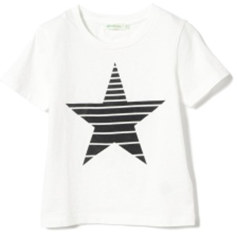 BEAMS mini / 星フロッキーTシャツ 19s (90~150㎝) キッズ Tシャツ OFF WHT 150