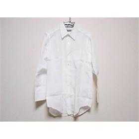 【中古】 ランバン LANVIN 長袖シャツ メンズ 美品 白 イニシャル刺繍