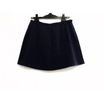 【中古】 セオリー theory ミニスカート サイズ2 S レディース ネイビー