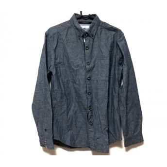 【中古】 ザ ショップ ティーケー 長袖シャツ サイズM メンズ ダークグレー コットンポリエステル