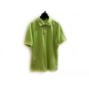 【中古】 パーリーゲイツ PEARLY GATES 半袖ポロシャツ サイズ5 XL メンズ ライトグリーン