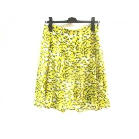 【中古】 ボッシュ BOSCH スカート サイズ40 M レディース イエロー マルチ