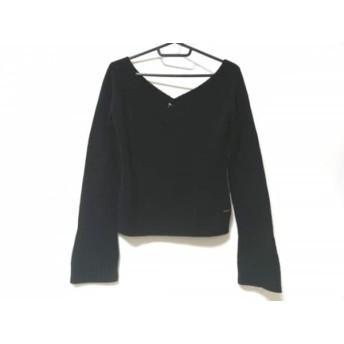 【中古】 フォクシー FOXEY 長袖セーター サイズ38 M レディース 黒 BOUTIQUE