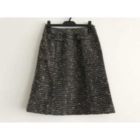 【中古】 ロシャス ROCHAS スカート サイズ9 M レディース 黒 ベージュ 白