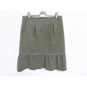 【中古】 ニジュウサンク 23区 スカート サイズ40 M レディース グレー