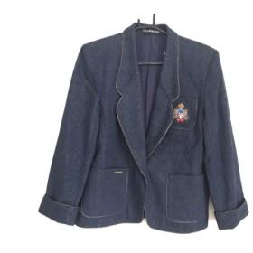 【中古】 レオナール LEONARD ジャケット レディース ブルー 肩パッド