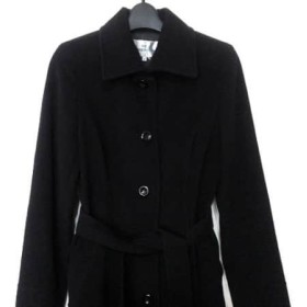 【中古】 ビアッジョブルー Viaggio Blu コート サイズ2 M レディース 黒 冬物