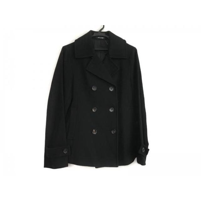 【中古】 コムサデモード COMME CA DU MODE Pコート サイズ9 M レディース 黒 冬物/ショート丈