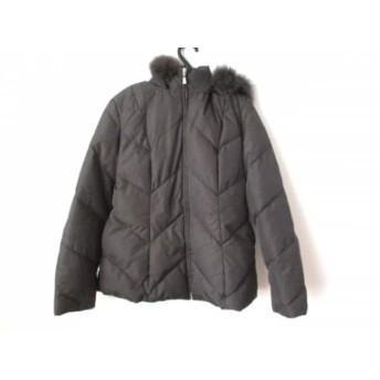 【中古】 ニジュウサンク 23区 ダウンジャケット サイズ40 M レディース ダークブラウン 冬物