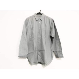 【中古】 マーガレットハウエル MargaretHowell 長袖シャツ サイズ2 M メンズ グレー