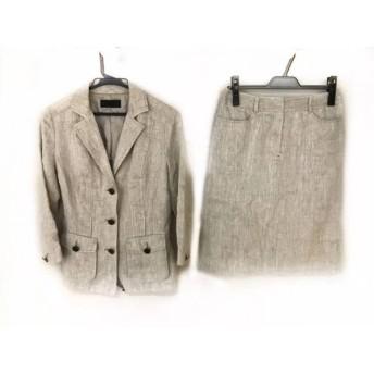 【中古】 アイシービー ICB スカートスーツ サイズ9 M レディース ライトグレー