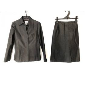 【中古】 ミッシェルクラン MICHELKLEIN スカートスーツ サイズ38 M レディース 黒 肩パッド