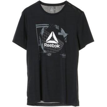 Reebok men's WOR ACTIVCHILL グラフィック ショートスリーブ Tシャツ ランニング・トレーニングウェア,ブラック