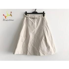 ヒロコビス HIROKO BIS スカート サイズ11 M レディース アイボリー   スペシャル特価 20190623