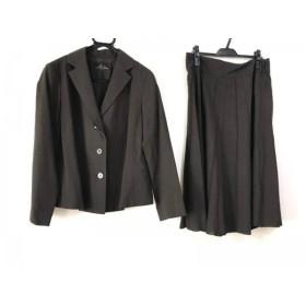 【中古】 レキップ ヨシエイナバ L'EQUIPE YOSHIE INABA スカートスーツ レディース ダークブラウン
