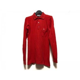 【中古】 マンシングウェア Munsingwear 長袖ポロシャツ メンズ レッド