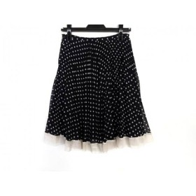 【中古】 アプワイザーリッシェ Apuweiser-riche スカート サイズ2 M レディース 黒 白 ドット柄
