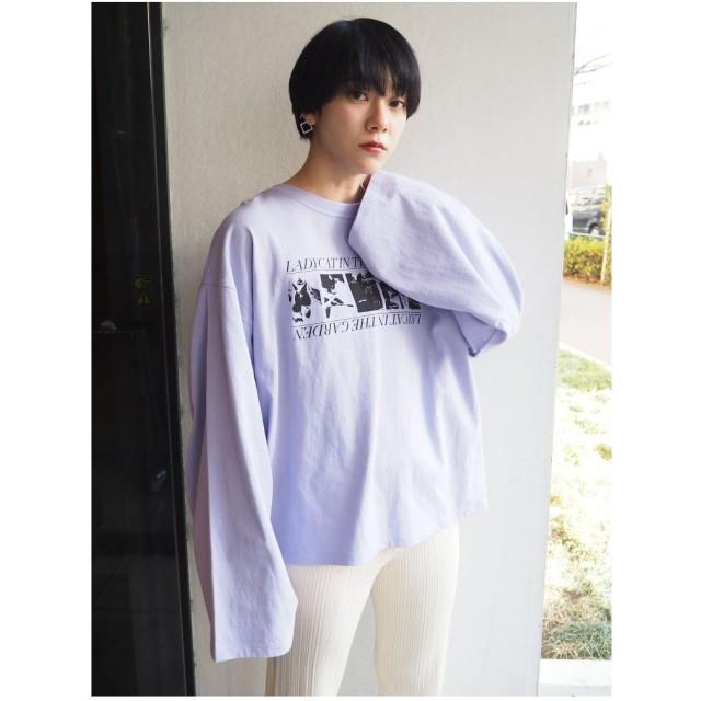 MURUA CATロングTシャツ(パープル)