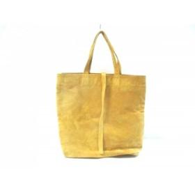 【中古】 ツチヤカバンセイゾウショ 土屋鞄製造所 トートバッグ イエロー スエード