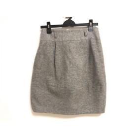 【中古】 セオリー theory スカート サイズ2 S レディース グレー
