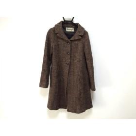 【中古】 ホコモモラ JOCOMOMOLA コート サイズ40 XL レディース 美品 黒 ブラウン 冬物