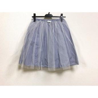 【中古】 ビリティス スカート サイズ36 S レディース 美品 ネイビー アイボリー チュール/チェック柄