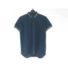 【中古】 フレッドペリー FRED PERRY 半袖ポロシャツ サイズS レディース ダークネイビー 白