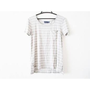 【中古】 ポロラルフローレン POLObyRalphLauren 半袖Tシャツ サイズXS レディース グレー 白 ボーダー