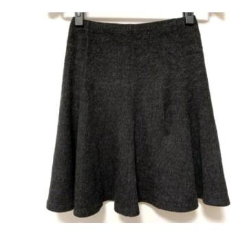 【中古】 サクラ SACRA スカート サイズ38 M レディース ダークグレー ニット