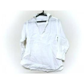 【中古】 オリアン ORIAN 長袖ポロシャツ サイズ38 M レディース 白