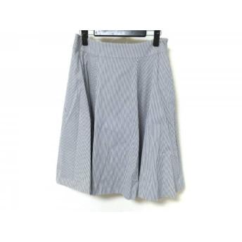 【中古】 エムズグレイシー M'S GRACY スカート レディース 白 ネイビー ストライプ