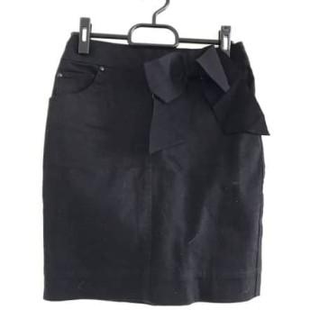 【中古】 エポカ EPOCA スカート サイズ38 M レディース 黒 デニム/リボン