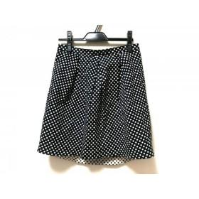 【中古】 トゥモローランド TOMORROWLAND スカート サイズ38 M レディース 黒 白 collection/ドット柄