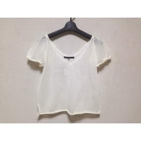 【中古】 マカフィ MACPHEE 半袖セーター レディース 白 薄手