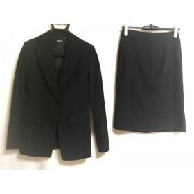 【中古】ダナキャラン DKNY スカートスーツ サイズ2 M レディース 美品 黒 肩パッド 新着 20190126