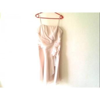 【中古】 ジュネビビアン GENETVIVIEN ドレス サイズ11 M レディース 美品 ベージュ ラインストーン