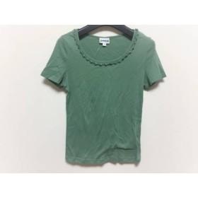 【中古】 ホコモモラ JOCOMOMOLA 半袖Tシャツ サイズ40 XL レディース 美品 グリーン ビーズ