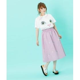 【しょこたん着用】mmts / ピンクちゃん ストライプスカート レディース その他スカート パープル ONE SIZE