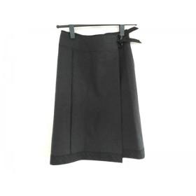 【中古】 バーバリーロンドン Burberry LONDON 巻きスカート レディース ダークグレー