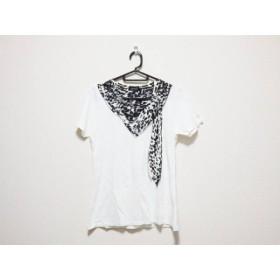 【中古】 ラブレス LOVELESS 半袖Tシャツ サイズ36 S レディース 白 黒 豹柄
