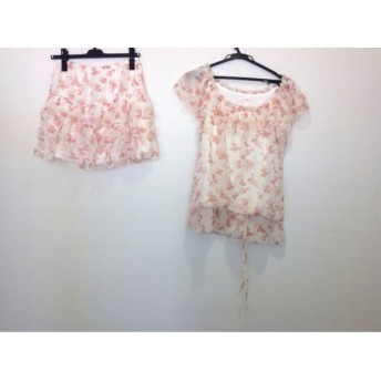 【中古】 レストローズ スカートセットアップ サイズ2 M レディース 美品 アイボリー ピンク マルチ