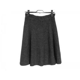 【中古】 ジャスグリッティー スカート サイズ2 M レディース 美品 ダークグレー ライトグレー ニット
