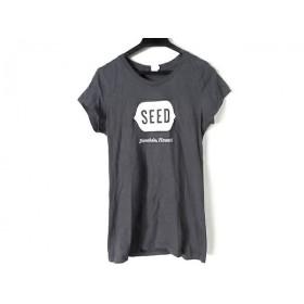 【中古】 ディストリクト District 半袖Tシャツ サイズS レディース ダークグレー 白