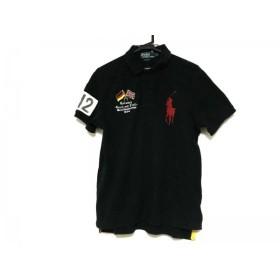 【中古】 ポロラルフローレン 半袖ポロシャツ サイズL メンズ ビッグポニー 黒 レッド マルチ